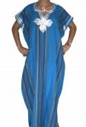 Djellaba femme bleue Rabat