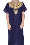 Djellaba child violet and gold