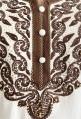 Chilaba mujer blanca con bordados marrones y perlas