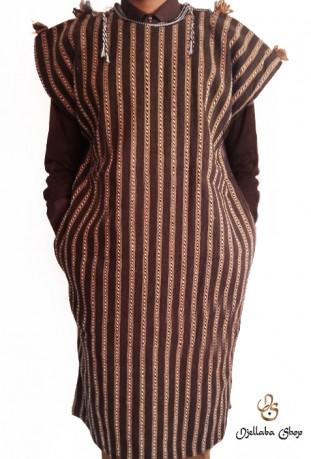 Djellaba man brown special winter