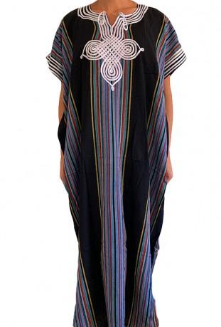 Djellaba woman pink and rainbow Essaouira