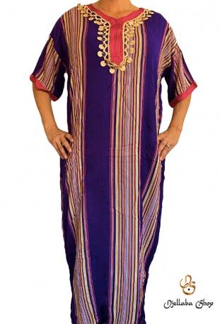 Djellaba traditionnelle 2021 violette kaftan