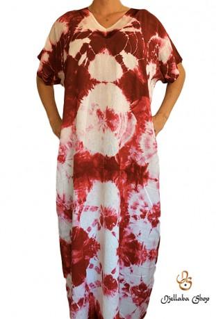 Djellaba femme rouge série kaftan plage