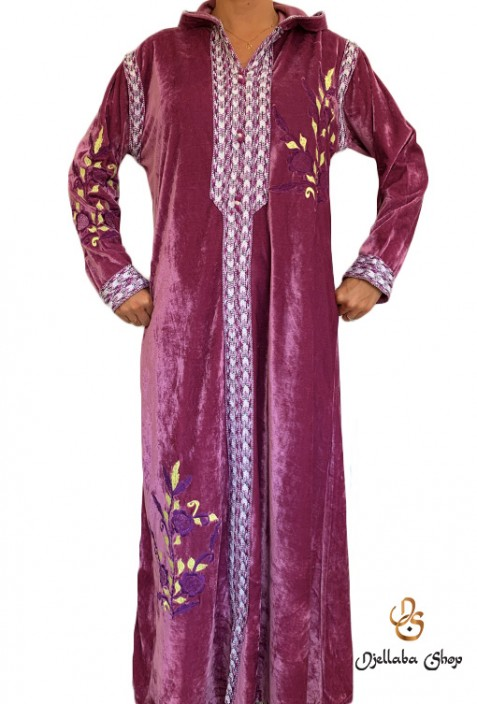 Modern high-end burgundy caftan