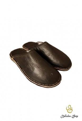 Braune Lederpantoffeln