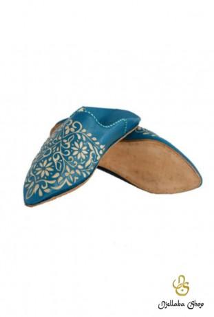 Zapatillas de piel marrón