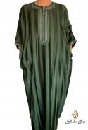 Djellaba kaftan man green striped