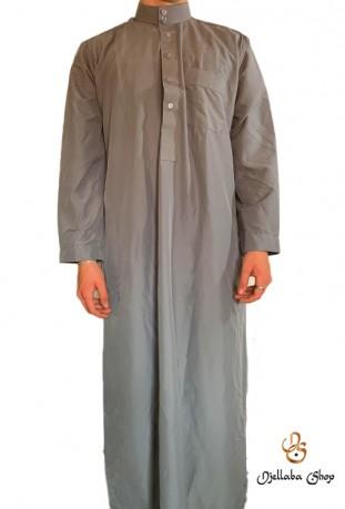 Tunique grise homme traditionnelle