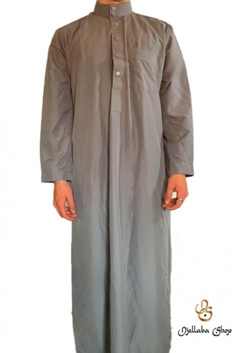 Traditional men's gray tunic