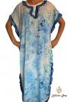 Djellaba femme bleue série kaftan plage