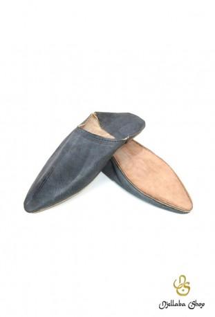 Zapatillas hombre en piel gris