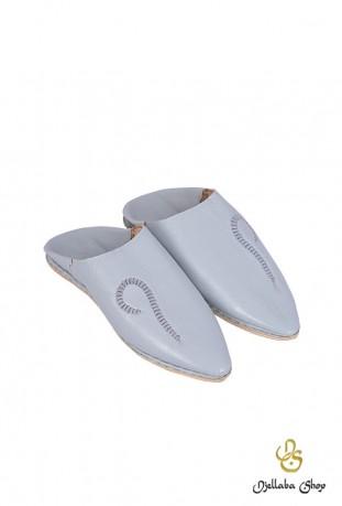 Zapatillas de hombre en piel gris claro