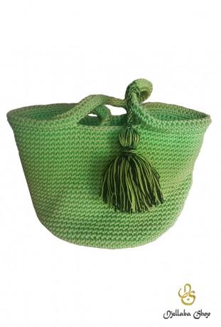 Bolso de mano verde medina