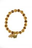 Bracelet marron main de Fatma et papillon