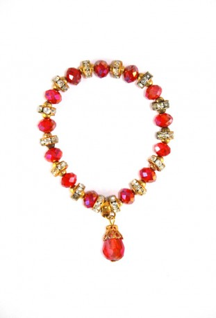 Red and gold bracelet flower of the desert