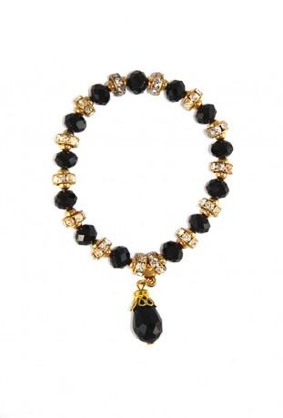 Bracelet noir et or fleur du désert