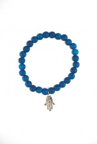 Armband blauen Perlen