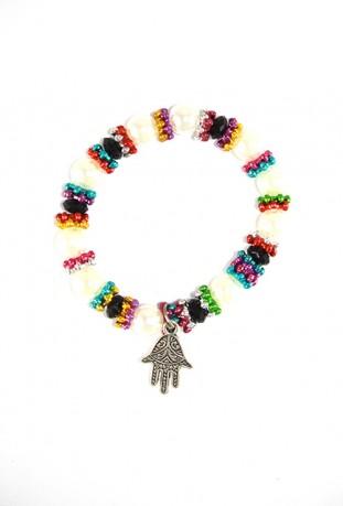 Multicolor Fatma Hand Bracelet